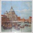 "Italy Venice Canaletto 9 pc 4.25"" x 4.25"" Ceramic Tile Mural Back Splash Decor"