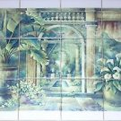"Closeout Conservatory Ivy Back Splash 12pc 4.25"" Kiln Fired Decor Ceramic Tile Mural"