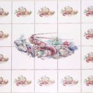 "CLOSEOUT Clam Shrimp Shell Seafood Ceramic Tile Mural 4.25"" Kiln Fired Ceramic Tile"