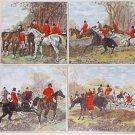 "Fox Hunt Ceramic Tiles Horse Equestrian Rider 4 of 6""x 6"" Kiln Fired Decor #3"