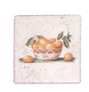 """Lemon Bowl Rialto Stone Tile 5.75"""" x 5.75""""  Kiln Fired Back Splash Decor"""