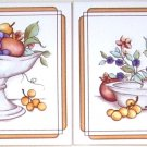 "Closeout Pretty Fruit Ceramic Tile Accents Grapes 2pcs 6"" x 6"" Kiln fired to match mural"