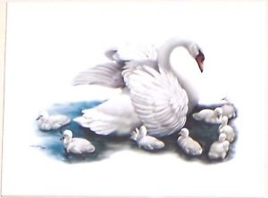 "Swan Bird Ceramic Tile 6"" X 8"" KILN FIRED DECOR"