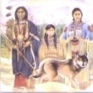 """Family with Wolf 6"""" x 6"""" Kiln Fired Ceramic Tile for Back Splash or Tile Project"""