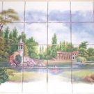 Closeout New Orleans Landscape Kiln Fired Ceramic Tile Mural  Back splash 24pcs 4.25""
