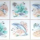 "Closeout Dolphin Ceramic Tile Mural Accent Coral Reef 4.25"" Kiln Fired Back Splash"