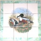 Closeout Duck Ducks Bird Ceramic Tile Mural 9pc 4.25  Backsplash Kiln Fired
