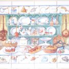 "Kitchen Cupboard Ceramic Tile Mural 12pc 4.25"" x 4.25"" Kiln Fired Back Splash"