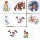 "Closeout Assorted Dog Ceramic Tile 4.25"" x 4.25"" Kiln Fired Greyhound Shepard"