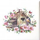 "Home Sweet Home Bird House Ceramic Tile Accent Back Splash 4.25"" x 4.25"""