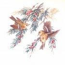 "Finch Song Bird Ceramic Tile Pine 4.25"" x 4.25"" Kiln Fired Back splash Decor"