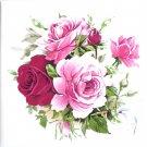 """Humming Bird Rose Ceramic Tile 4.25"""" Flower Kiln Fired Back Splash Accent"""