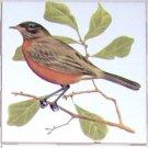 Robin Song Bird Ceramic Tile