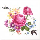 "Hummingbird Rose Ceramic Tile 4.25"" x 4.25"" Kiln Fired Back Splash Decor Bird A"