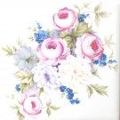 "Pink and White Rose Flower Bouquet Kiln Fired Ceramic Tile 4.25"" x 4.25"" Back Splash Decor"