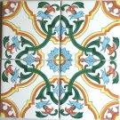 "Tile Designs Yellow Green Ceramic Tile Mural Back Splash 4 pc 4.25"" x 4.25"""