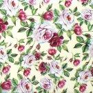 """Rose Flower Chintz Ceramic Tile 4.25"""" x 4.25"""" Kiln Fired Decor Back Splash"""