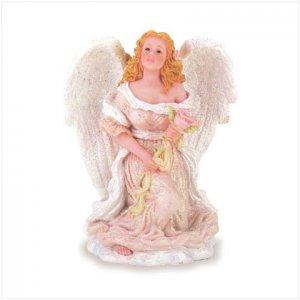 ANGEL AND ROSE FIGURINE  Item #28087