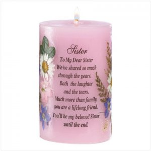 CANDLE FOR SISTER  Item #35755