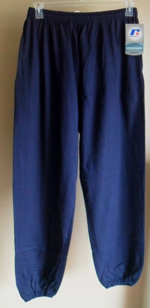 Russell Athletic Navy Blue Pants Elastic Waist Band & Draw String