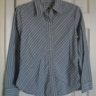 Gap Striped Blue & White Button Down Dress Shirt size Small