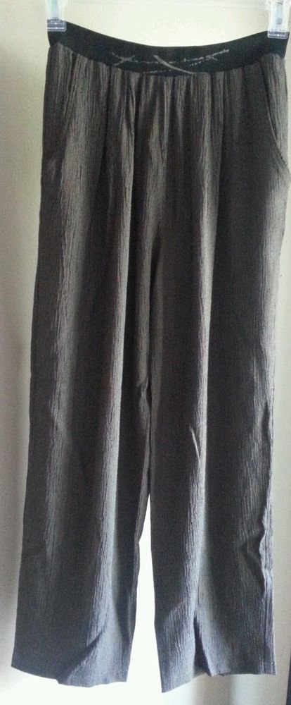 k. d. Spring Rayon & Acetate Brown & Black Pant Hand Pockets Altered to Petite M