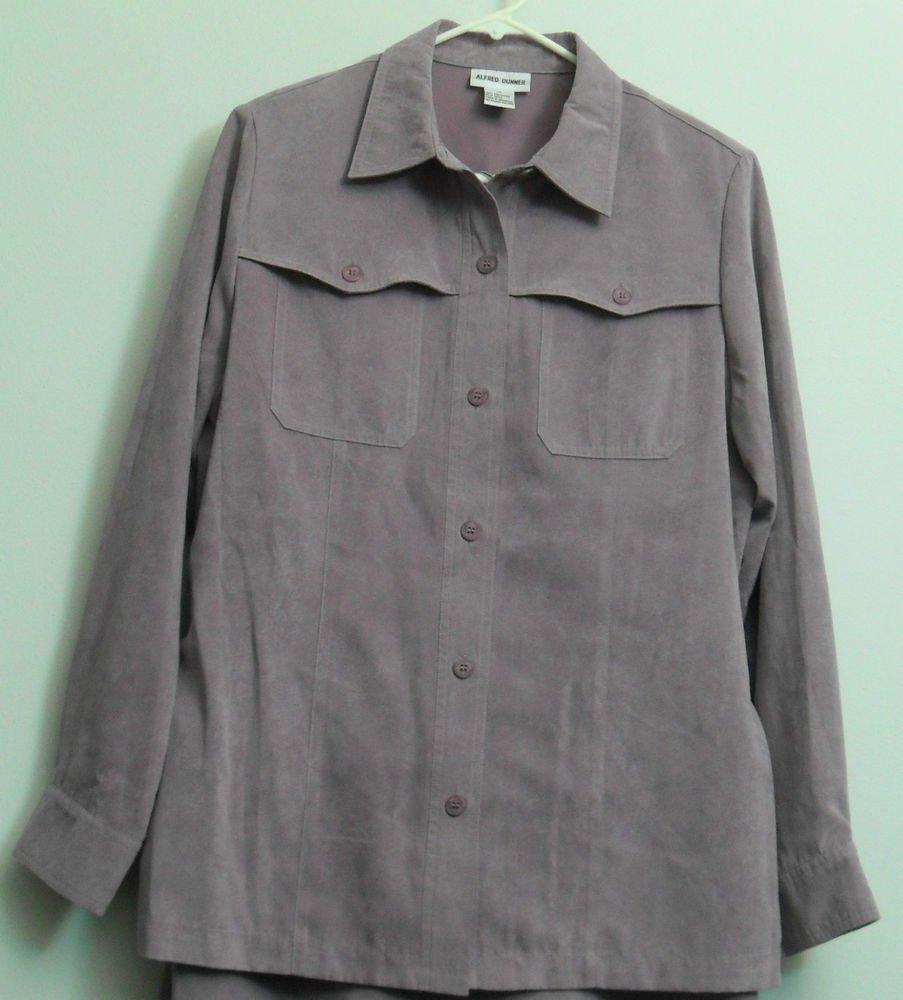 Alfred Dunner Women 12 Light Lavender Waist Belt Dress Suit Jacket Retro/Vintage