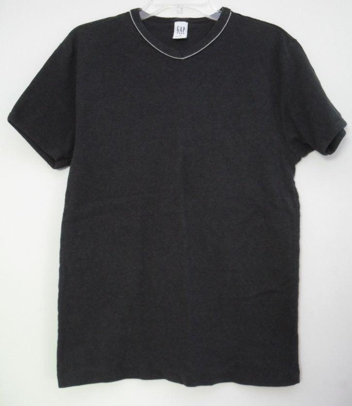 Gap Body Womens XL Crew Neck Short Sleeve Dark Gray Charcol Colored Shirt Top