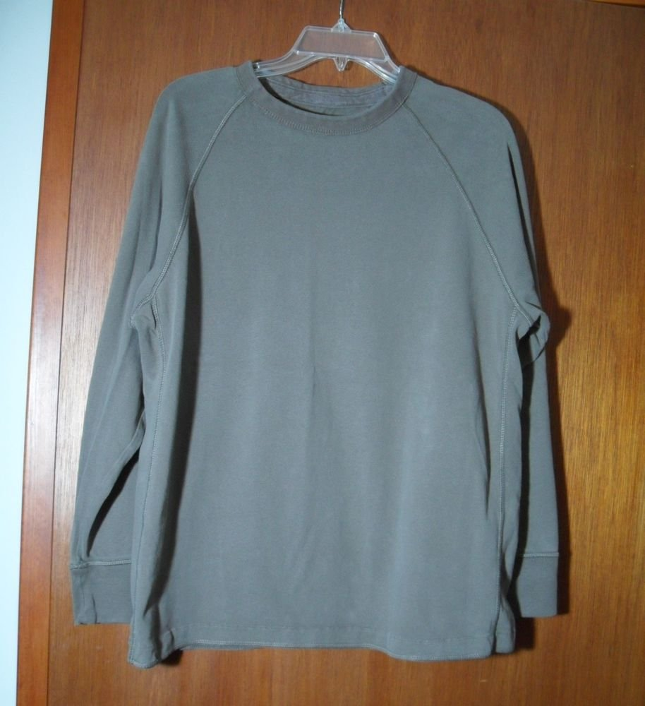 Sonoma Life + Style Grayish Green Outward Stitching Tagless Mens Large Pullover