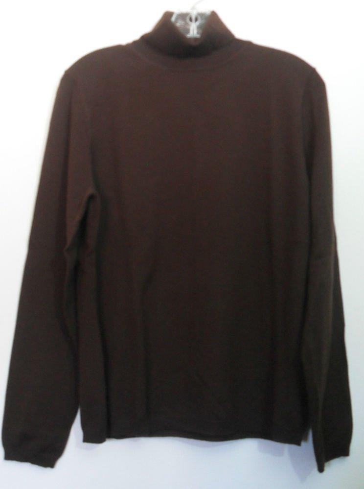 Apt. 9 Womens Large Turtleneck Lightweight 83% Merino Wool 17% Nylon Long Sleeve
