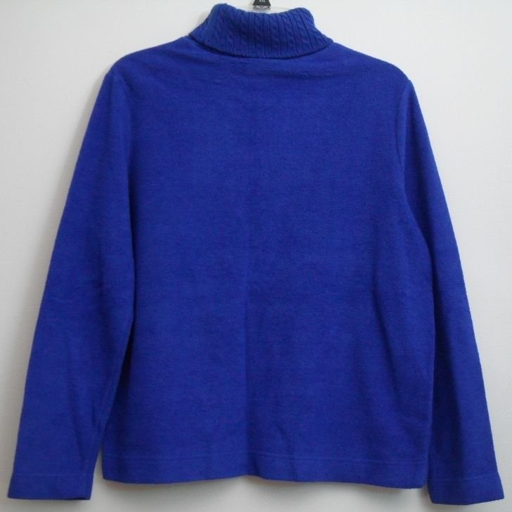 St. John's Bay Pullover Fleece Sweater Petite Large Long Sleeve Turtle Neck