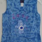 Freeze Care Bears Grumpy Bear Blue Purple Stars Tie Dye Juniors Medium Tank Top