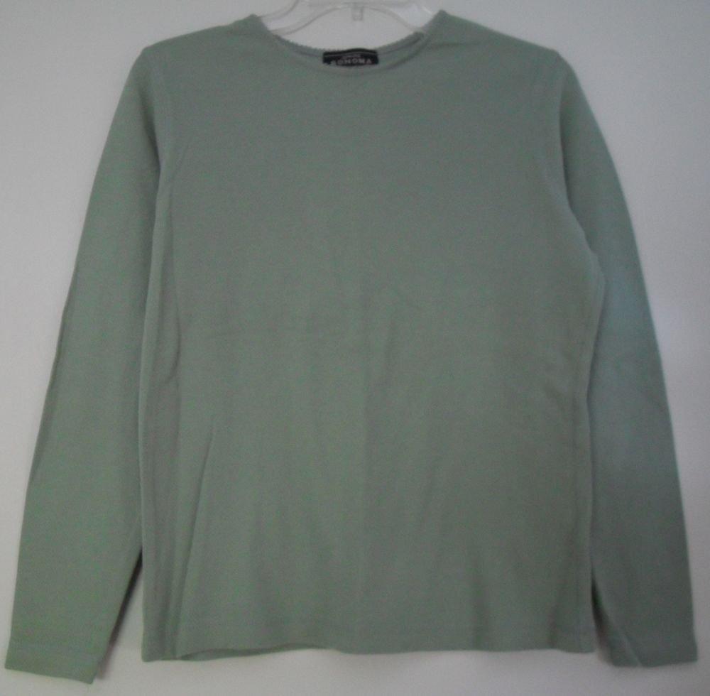 Genuine Sonoma Jean Company Long Sleeve Green Thermal Knit Top sz Medium NiceFit