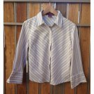 Merona Striped Stretch Blouse (L)