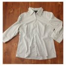 Autograph Gray Pinstriped Button Down (L)