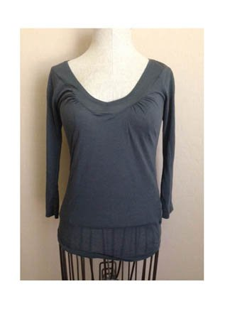 Zara Collection Gray Thin Knit Top (S)