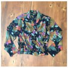 Vtg. 80s In Group Ltd. Floral Crossover Blouse (6)