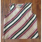 Valerie Stevens Retro Feel Striped Silk Blouse (PSm)