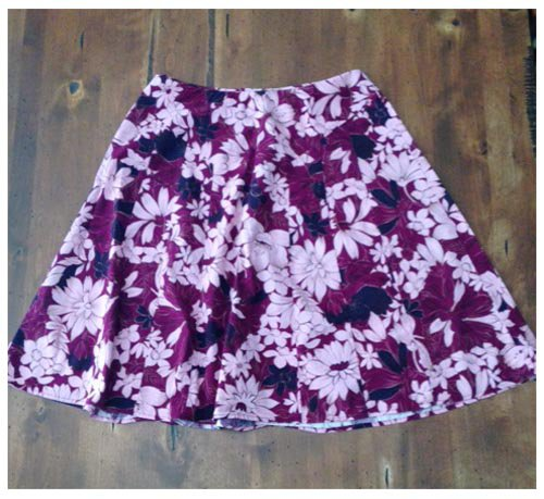 Apt. 9 Stretch Maroon Floral Skirt (8)