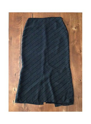 Old Navy Collection Black Dotted Straight Skirt (1)