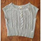DKNY Gray Sleeveless Sweater (L)
