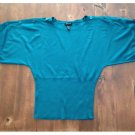Spense Teal Batwing Sleeved Sweater (L)