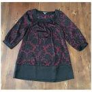 Apt. 9 Maroon & Black Floral Tunic (S)