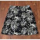 apostrophe B&W Modern Print Linen Skirt (10)