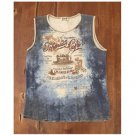 Jamee J. French Cafe Theme Sleeveless Top (L)