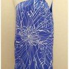 Jay Godfrey Blue Silk One Shoulder Blouse Lined Size 4 EUC