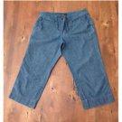 New York & Company Denim Crop Fit Pants Jeans Cotton Size 6 EUC