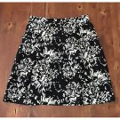 apostrophe Black White Modern Pattern Linen Skirt Mini Size 10 EUC Lined