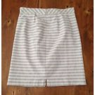 Downeast Lavender Purple White Vertical Pinstriped Straight Skirt Lined XL