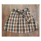 Mlle Gabrielle Brown Plaid Full Skirt (S)